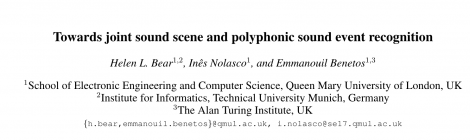 Pre-print of new work released; joint ASC and SED